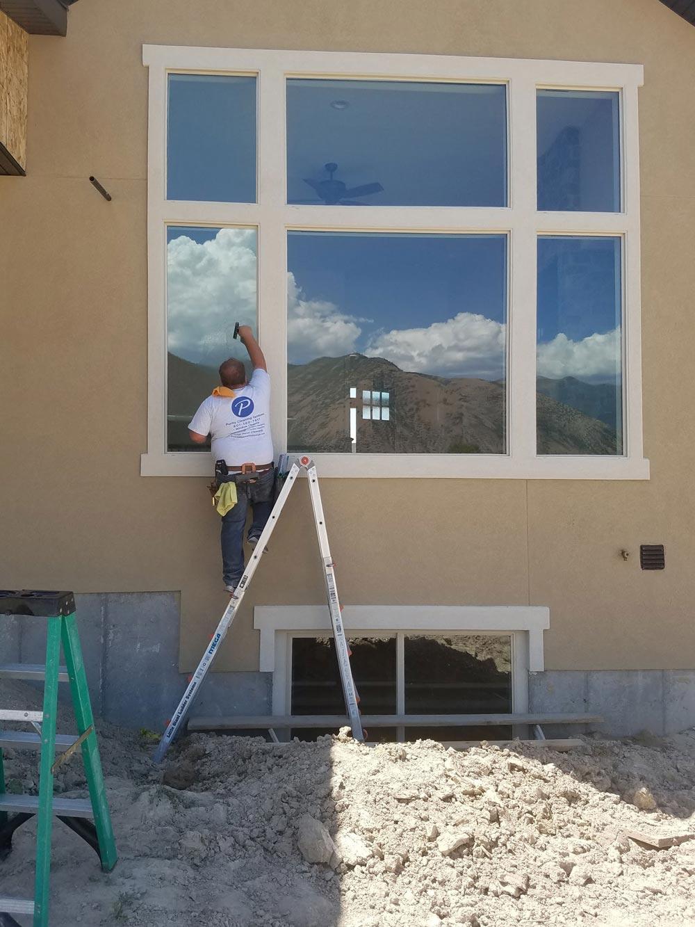 Residential window cleaning in Utah County