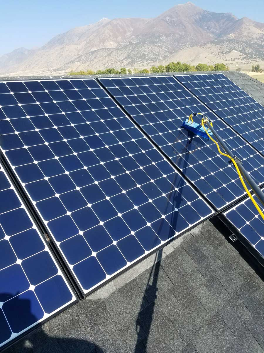 Solar panel cleaning in Utah County by Purity Cleaning Systems