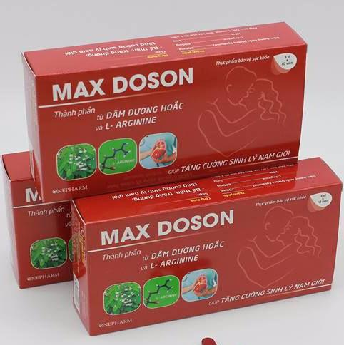 10. Max Doson - Thuốc chống xuất tinh sớm tốt nhất