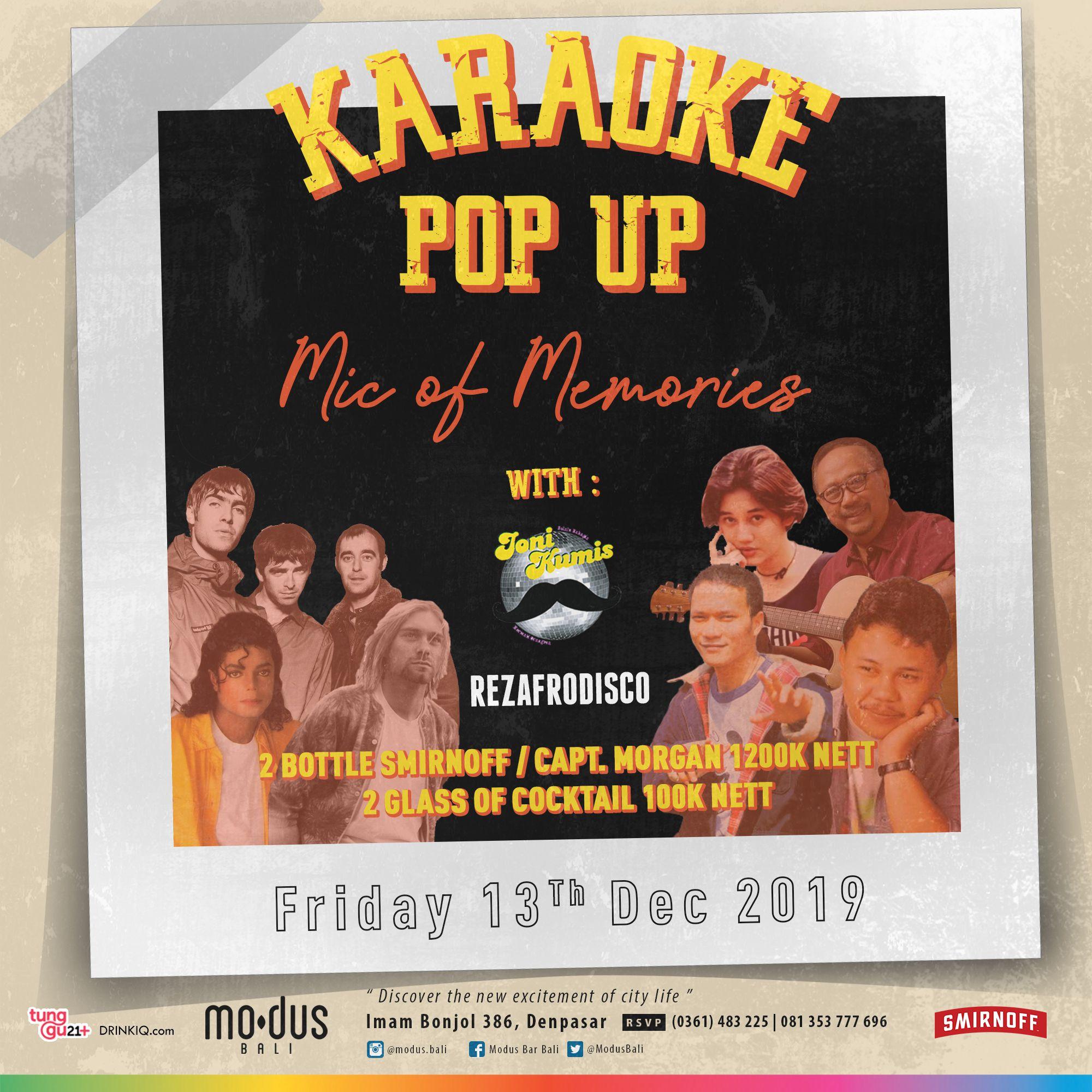 KARAOKE POP UP: MIC OF MEMORIES
