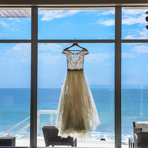 Wedding Dress with Ocean View