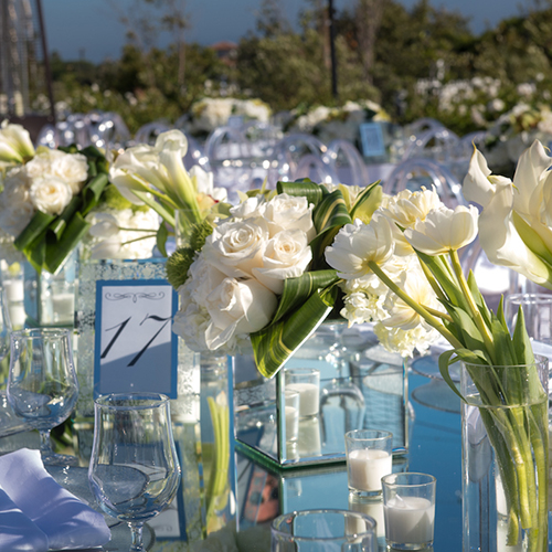 flower wedding table decor