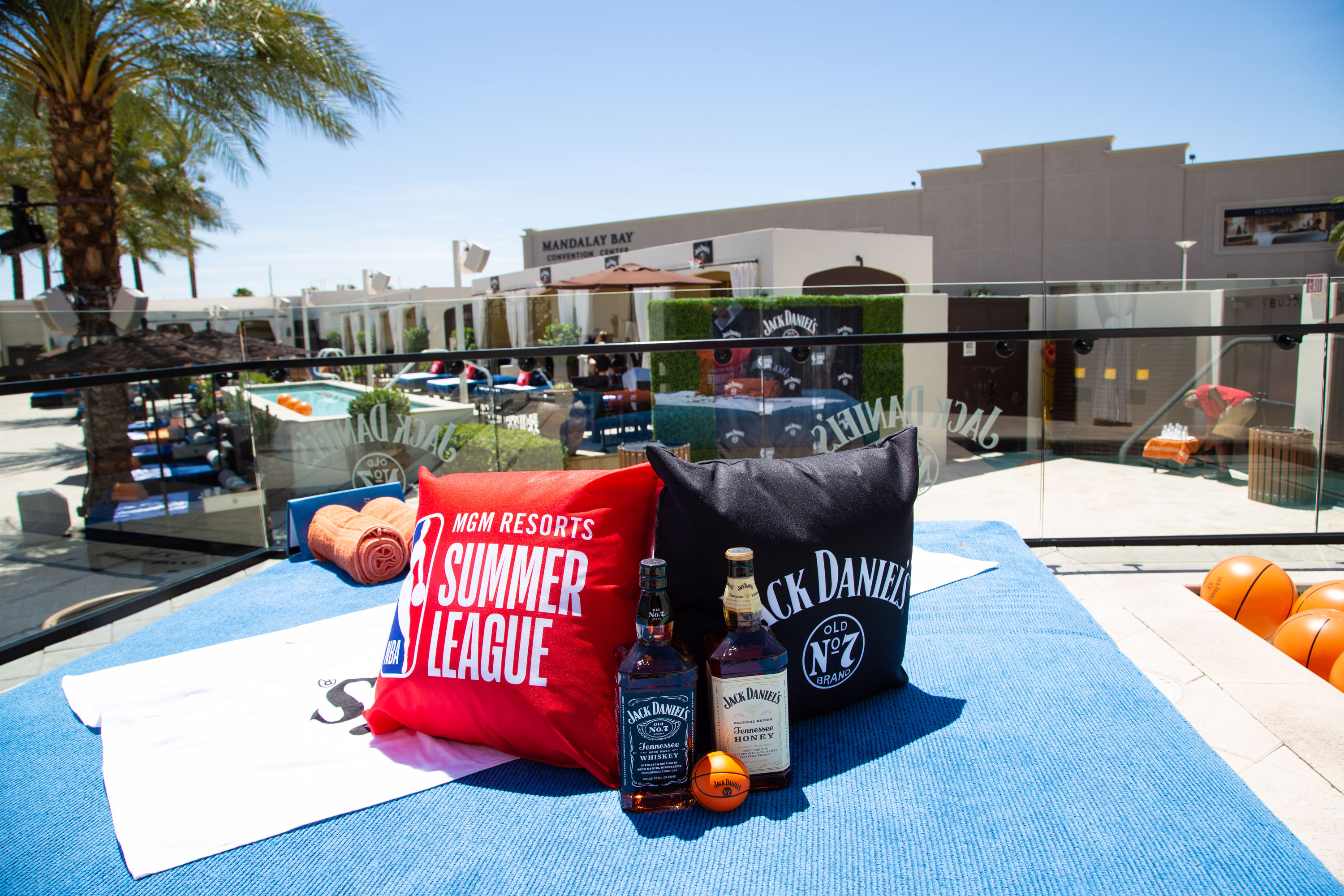 NBA Summer League pillows at Jack Daniel's NBA Summer League