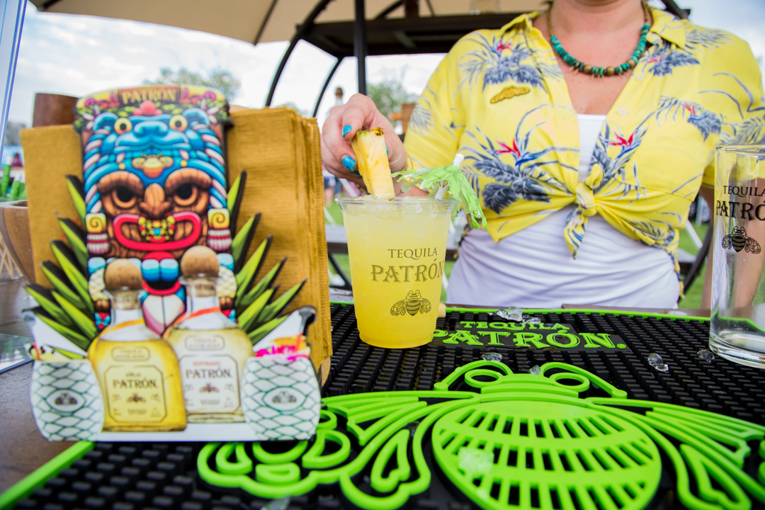 Patron Tequila drink being served at the bar