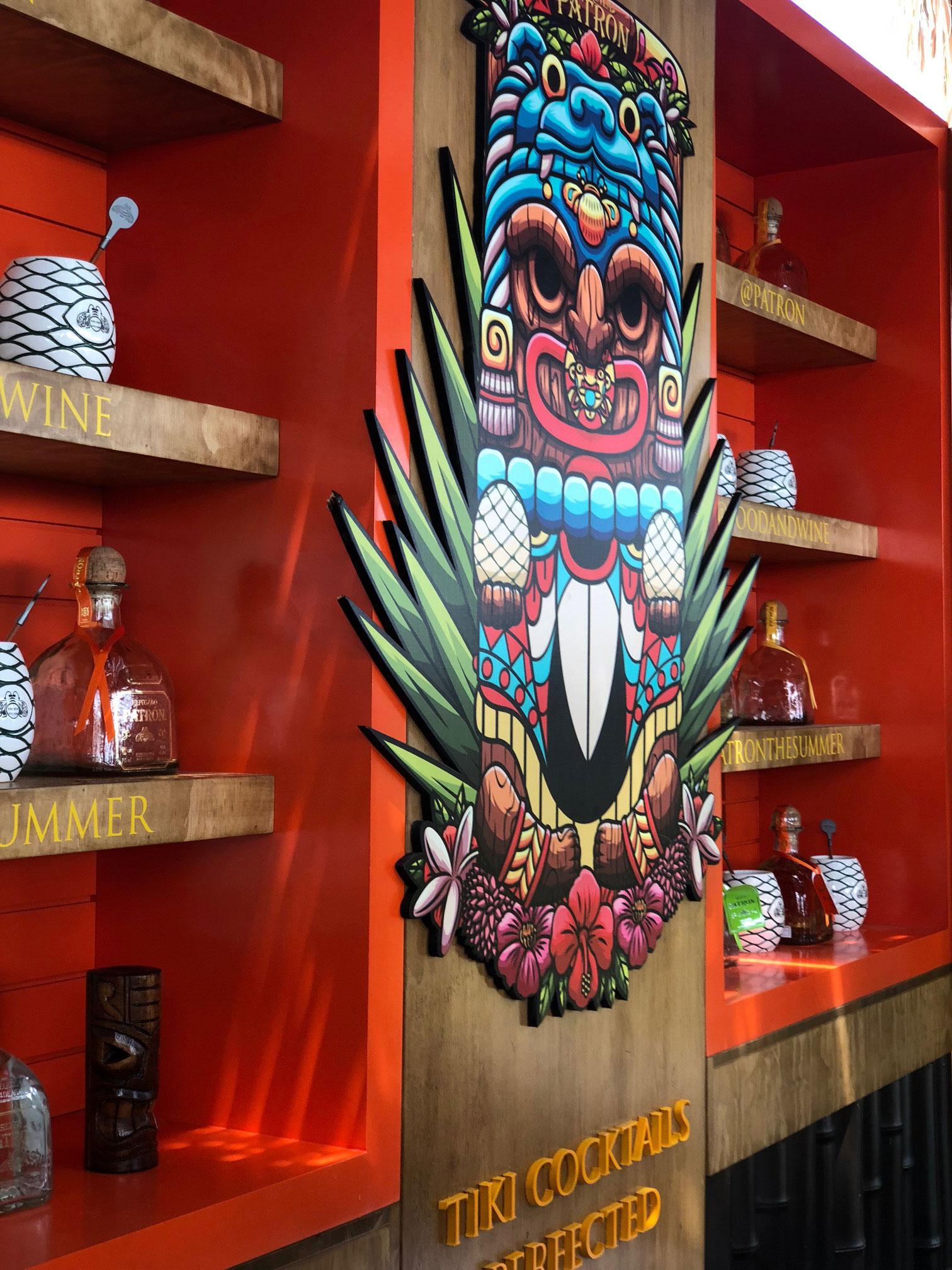 Patron Tequila Tiki sign