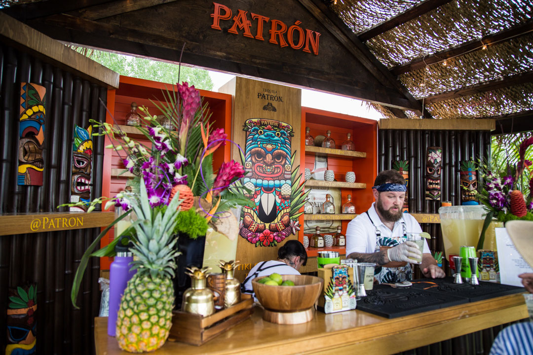 Patron Tequila bartender serving drinks