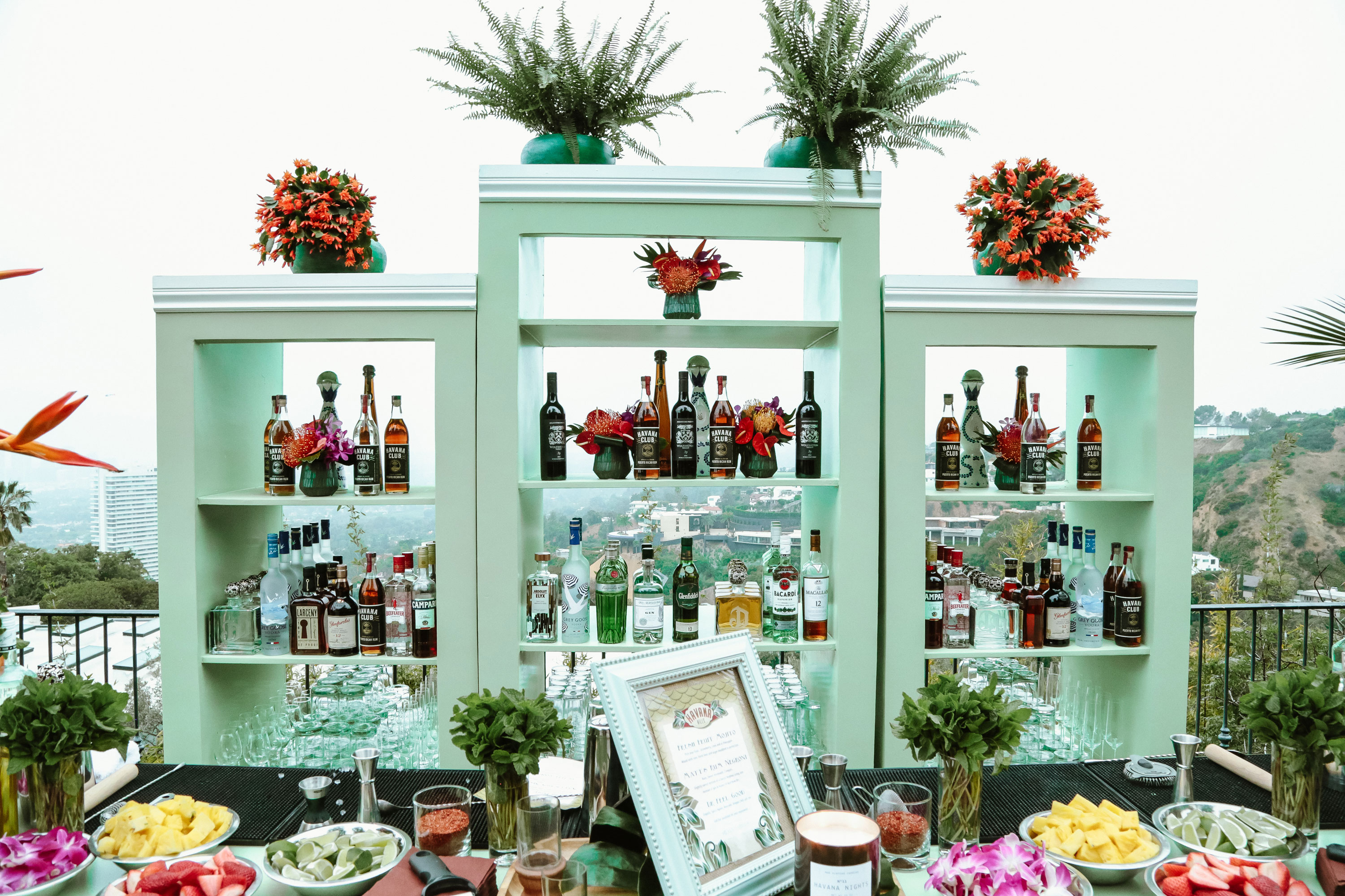 Bar by the pool at Havana Hills Themed Party