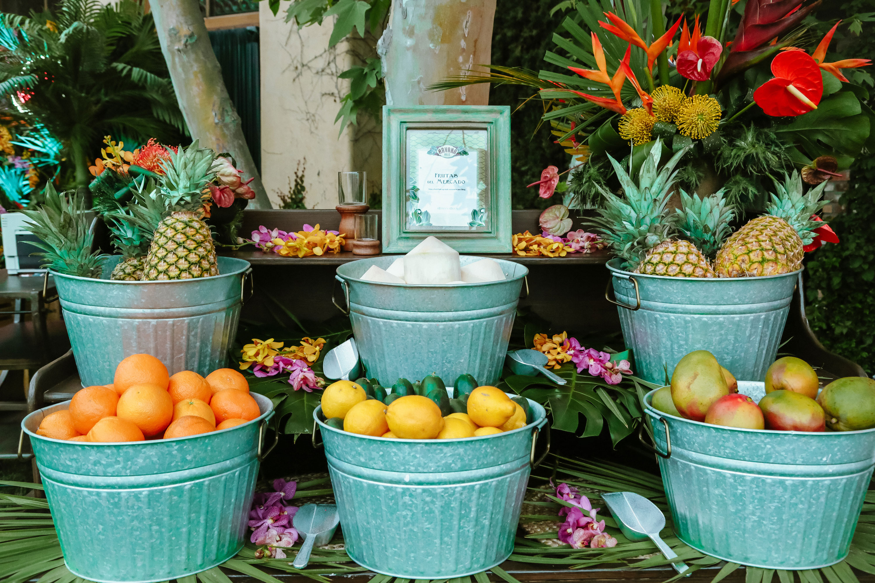 Fruit display at Havana Hills Themed Party