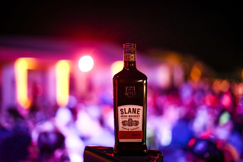 Slane Irish Whiskey bottle at One Oak Coachella Closing Party