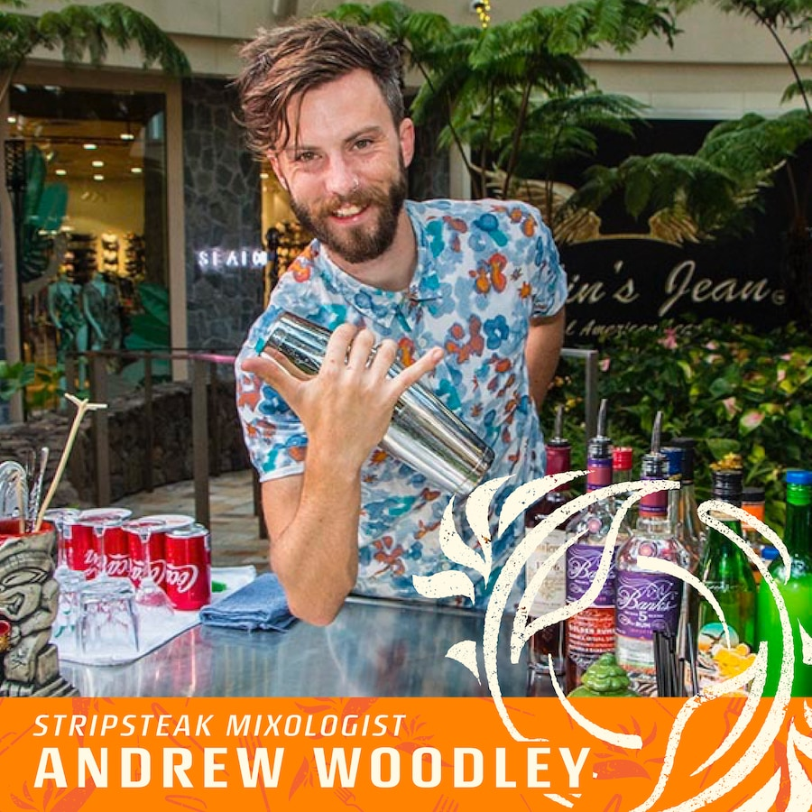 Andrew woodley stripsteak waikiki mixologist for taste of paradise event