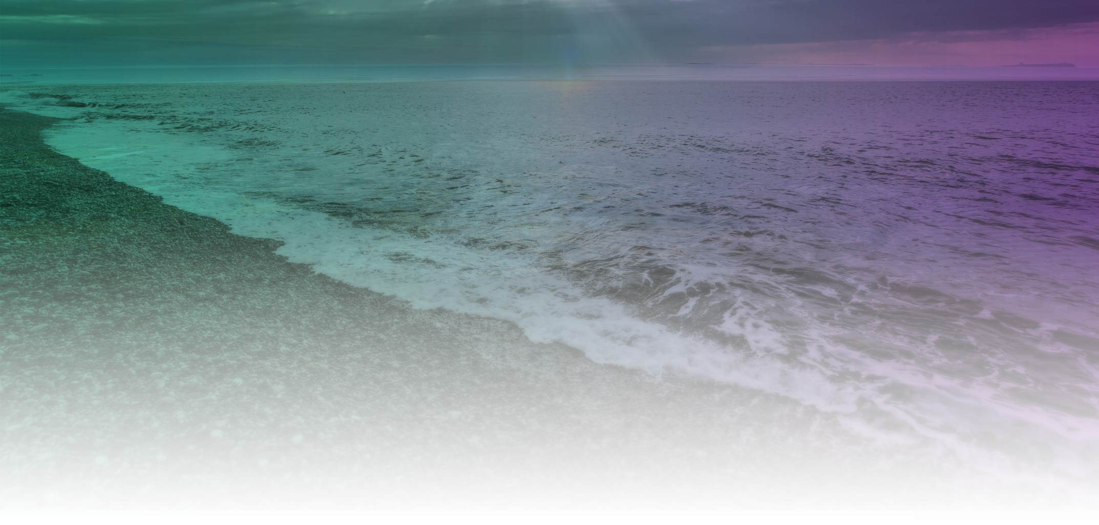 Vibrational Healing Ocean Waves with Colored Light