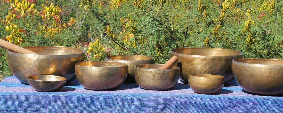 Tibetan singing bowls – authentic antique bowls made many years ago from an ancient combination of metals