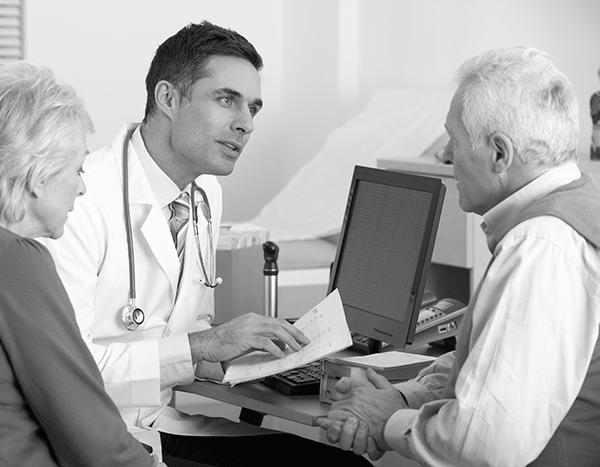 ENT discusses sinus options with patients