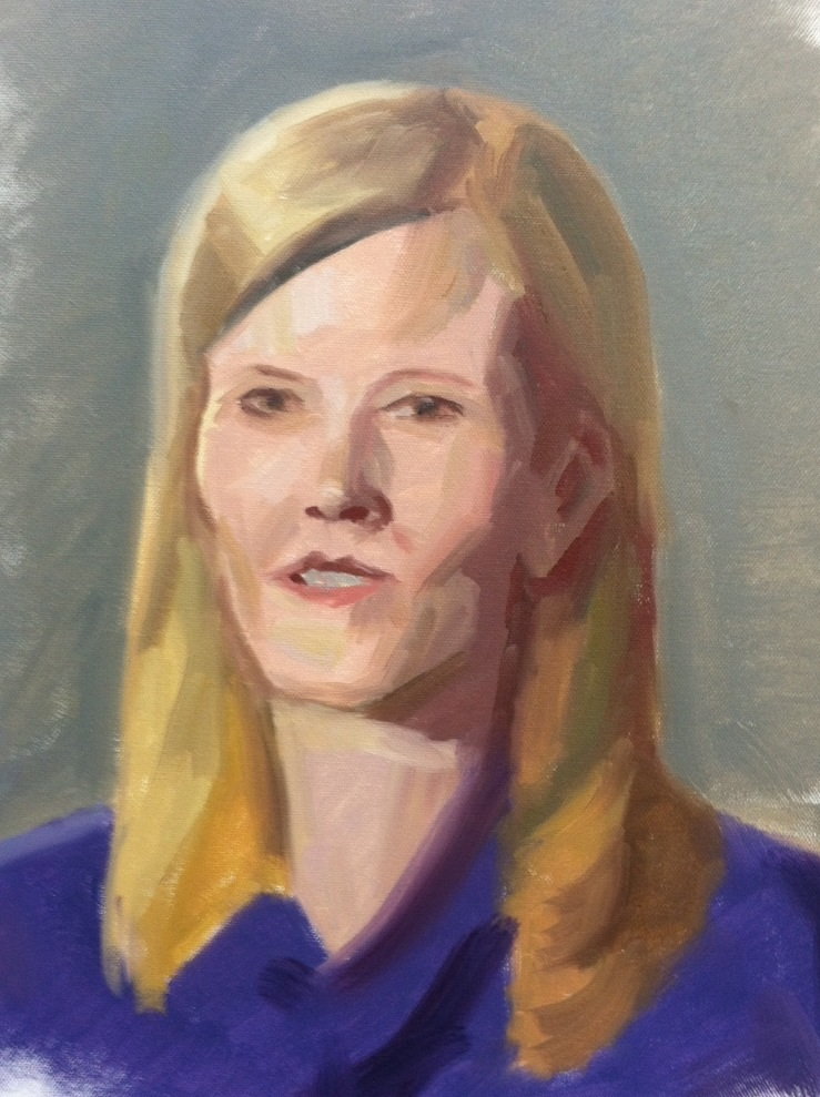 PortraKt Study of Kate Snw painted by Marvin Mattelson