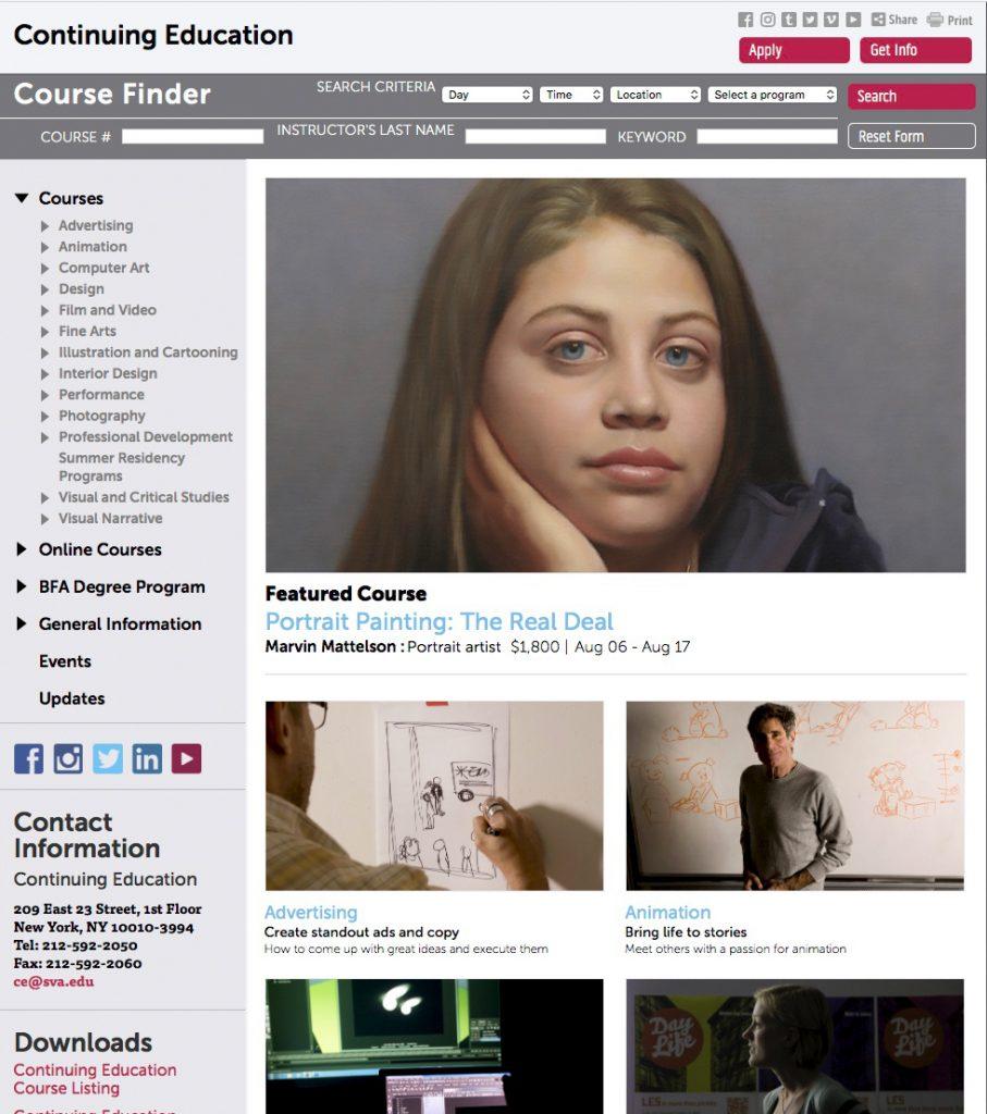 SVA CE website home page
