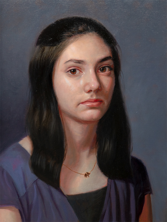 Marvin Mattelson class demo painting of Erin.