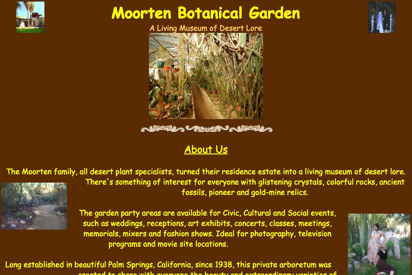 Moorten Botanical Garden Previous Website