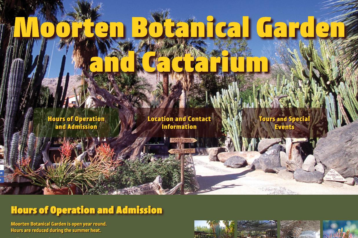 Moorten Botanical Garden New Website by Al B. Goldin