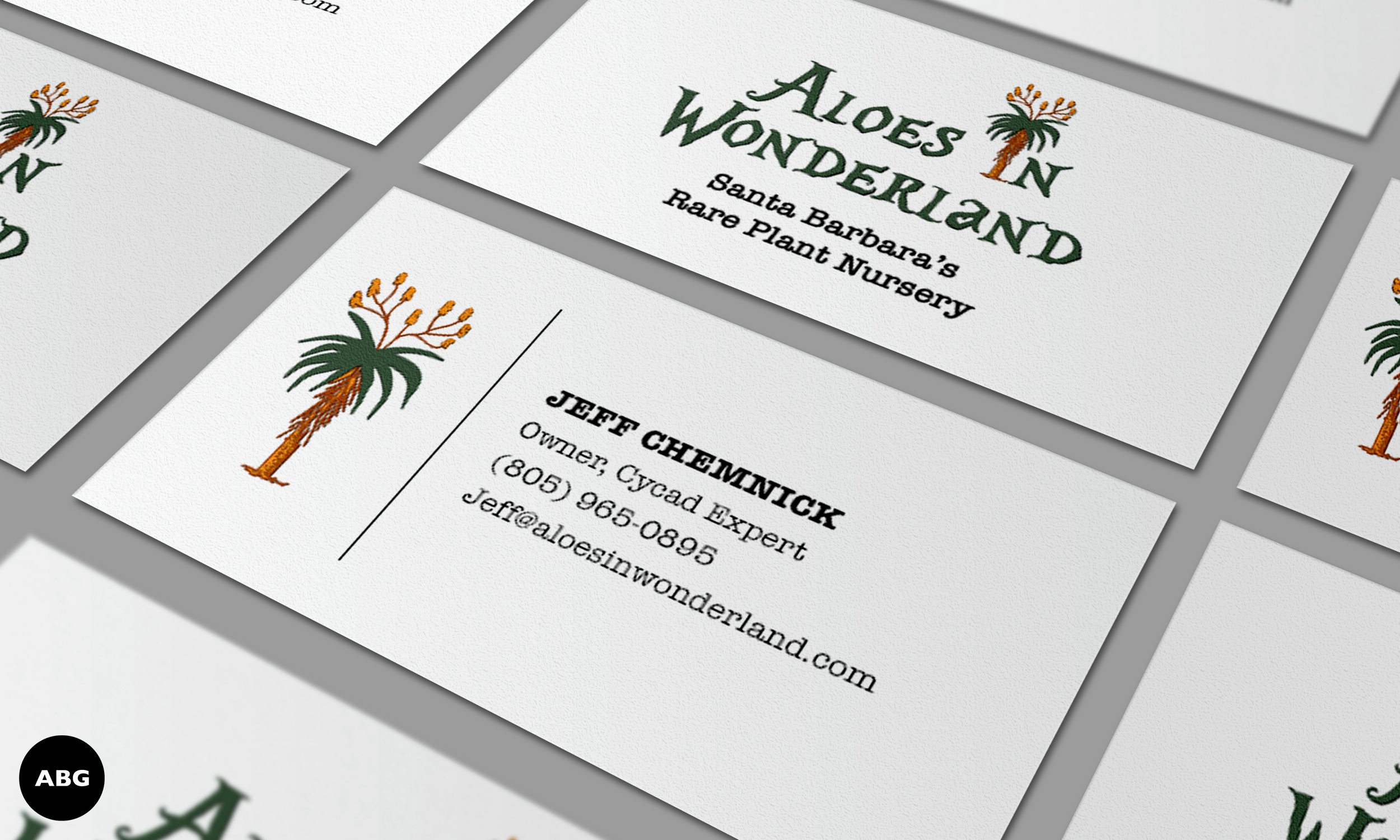 Aloes in Wonderland Business Cards by Al B. Goldin