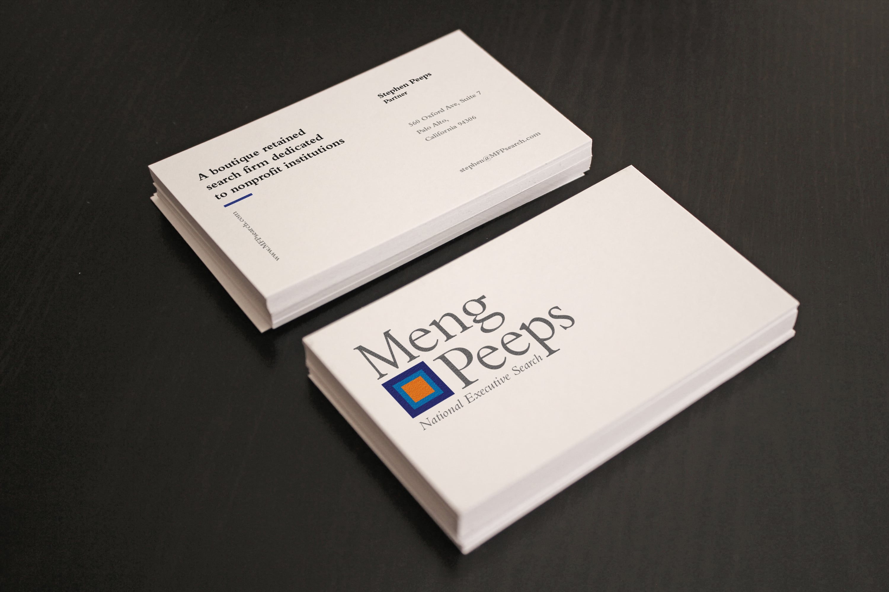 Logo and identity system for Meng Peeps, National Executive Search