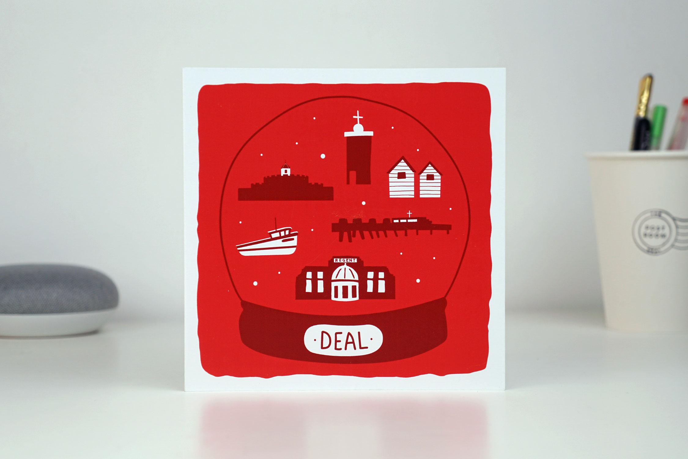 Deal Snowglobe Card