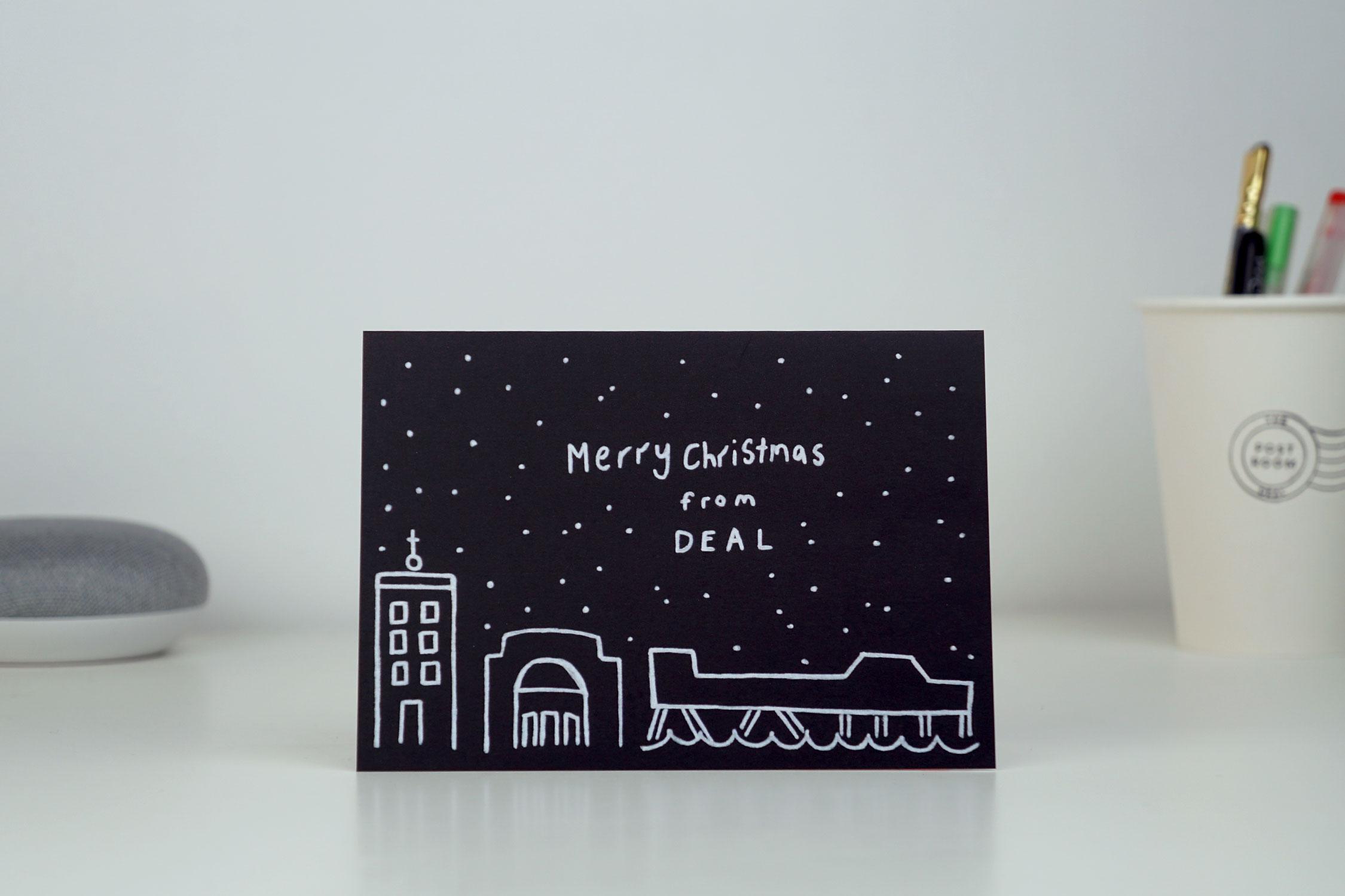 Deal Snow Scene Card
