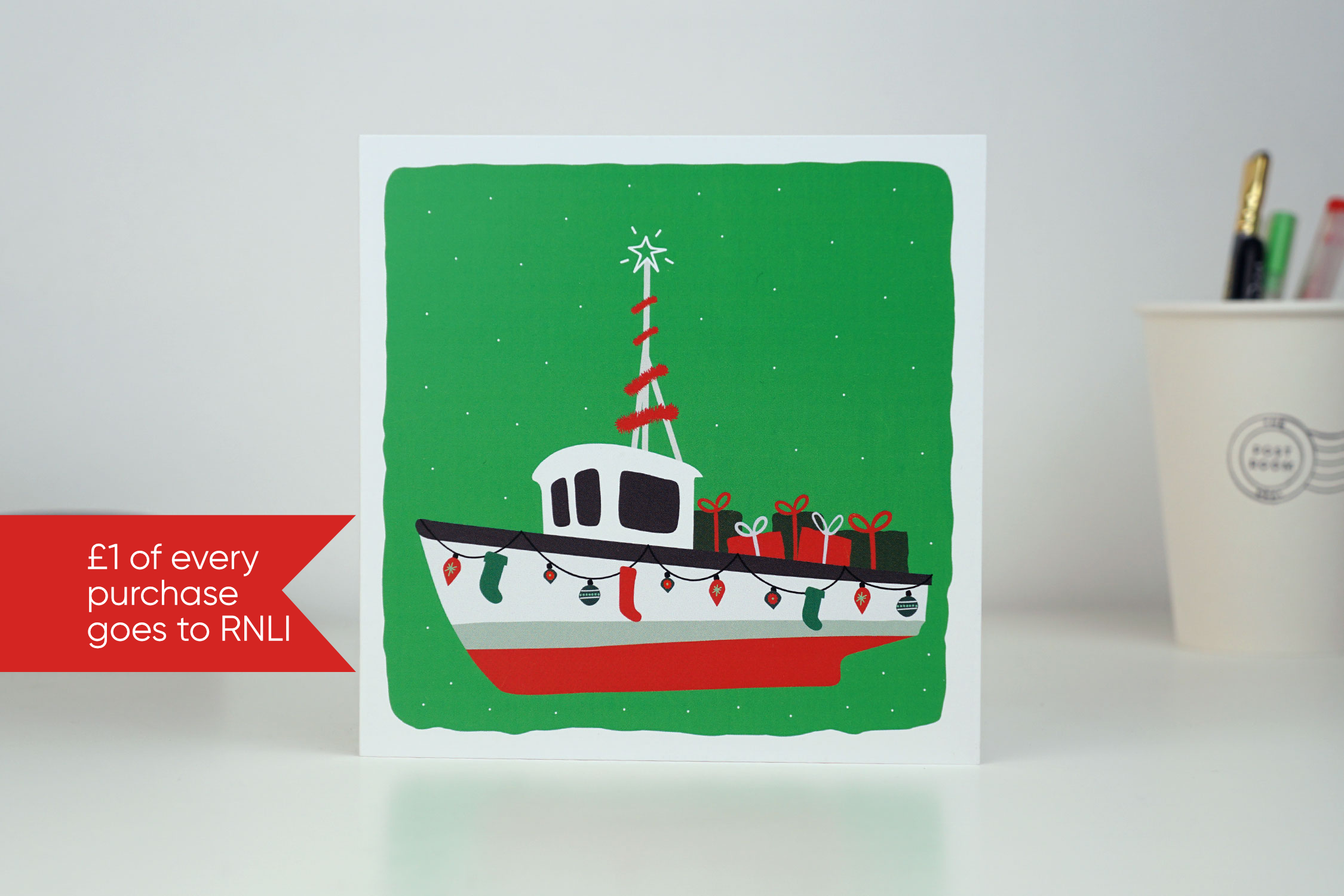 Fishing Boat Christmas Card