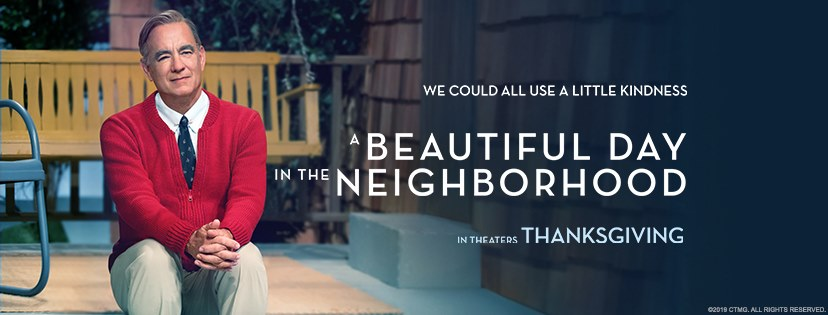 A Beautiful Day in the Neighborhood starring Tom Hanks movie banner