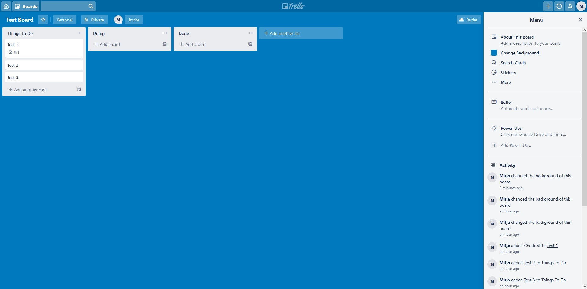 Trello app screenshot