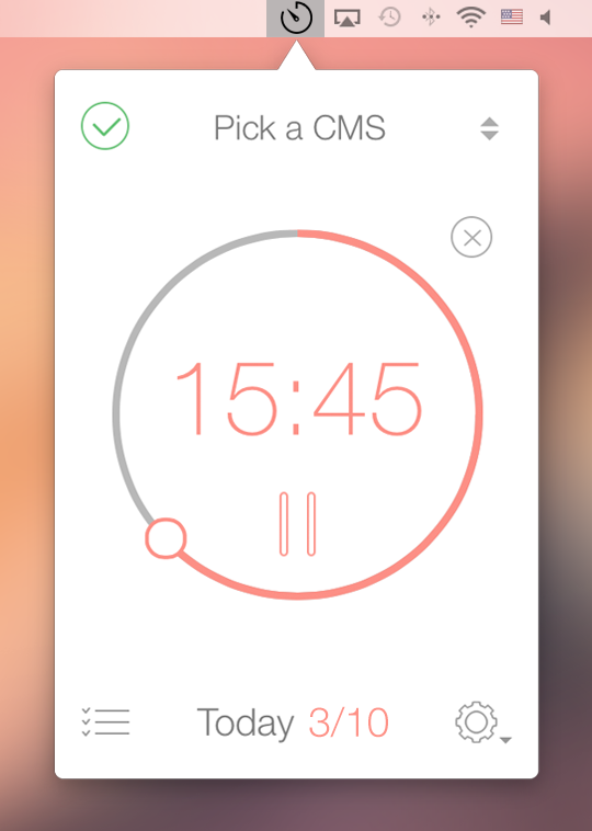 Be Focused Timer app  screenshot