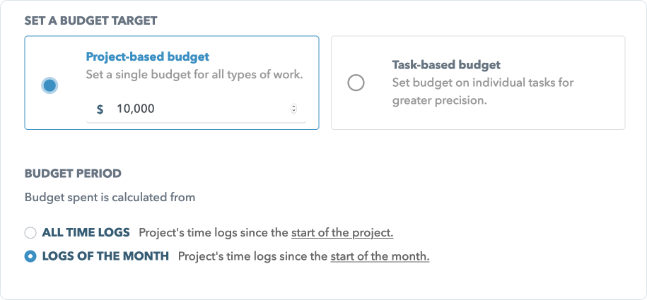 Monthly project fee