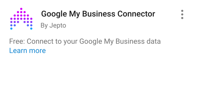 Google My Business Insights Data Studio Connector