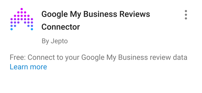 Google My Business Reviews Data Studio Connector