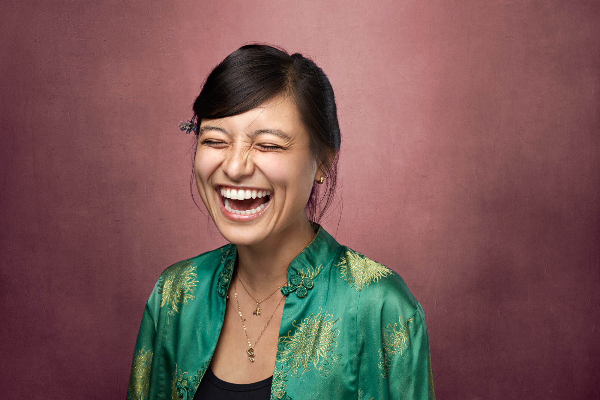 Artistic Professional Headshot Woman Laughing