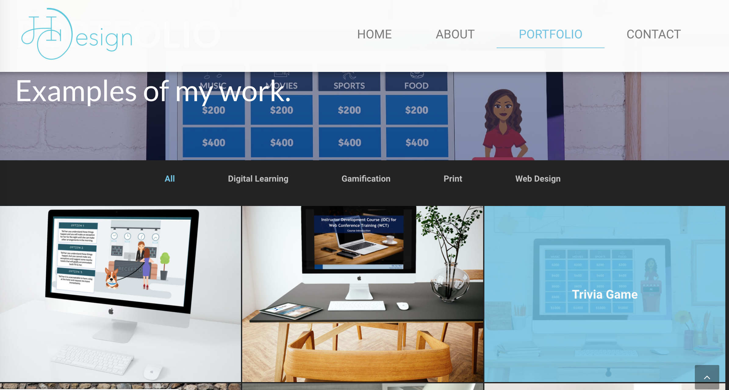 Self-hosted portfolio site by Holly Castellow