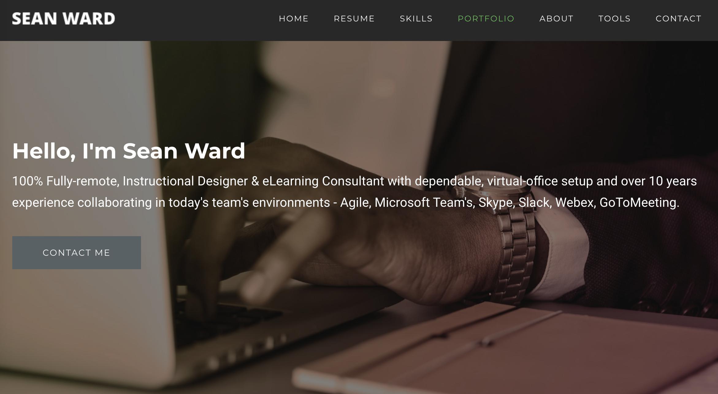 Header introduction Sean Ward