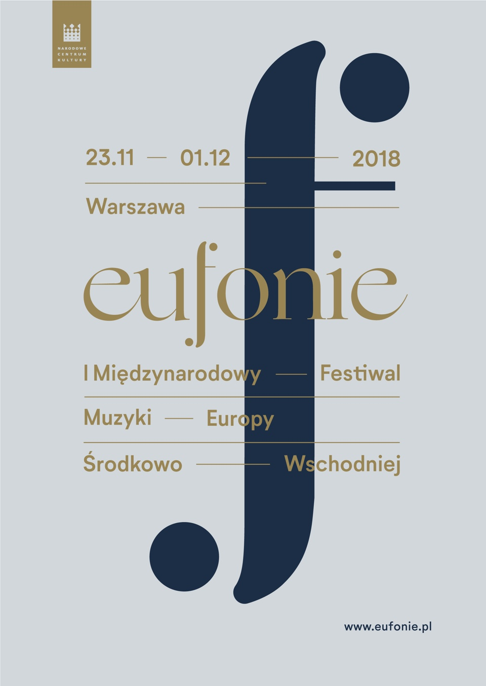 Poster design - Eufonie Festival by Uniforma
