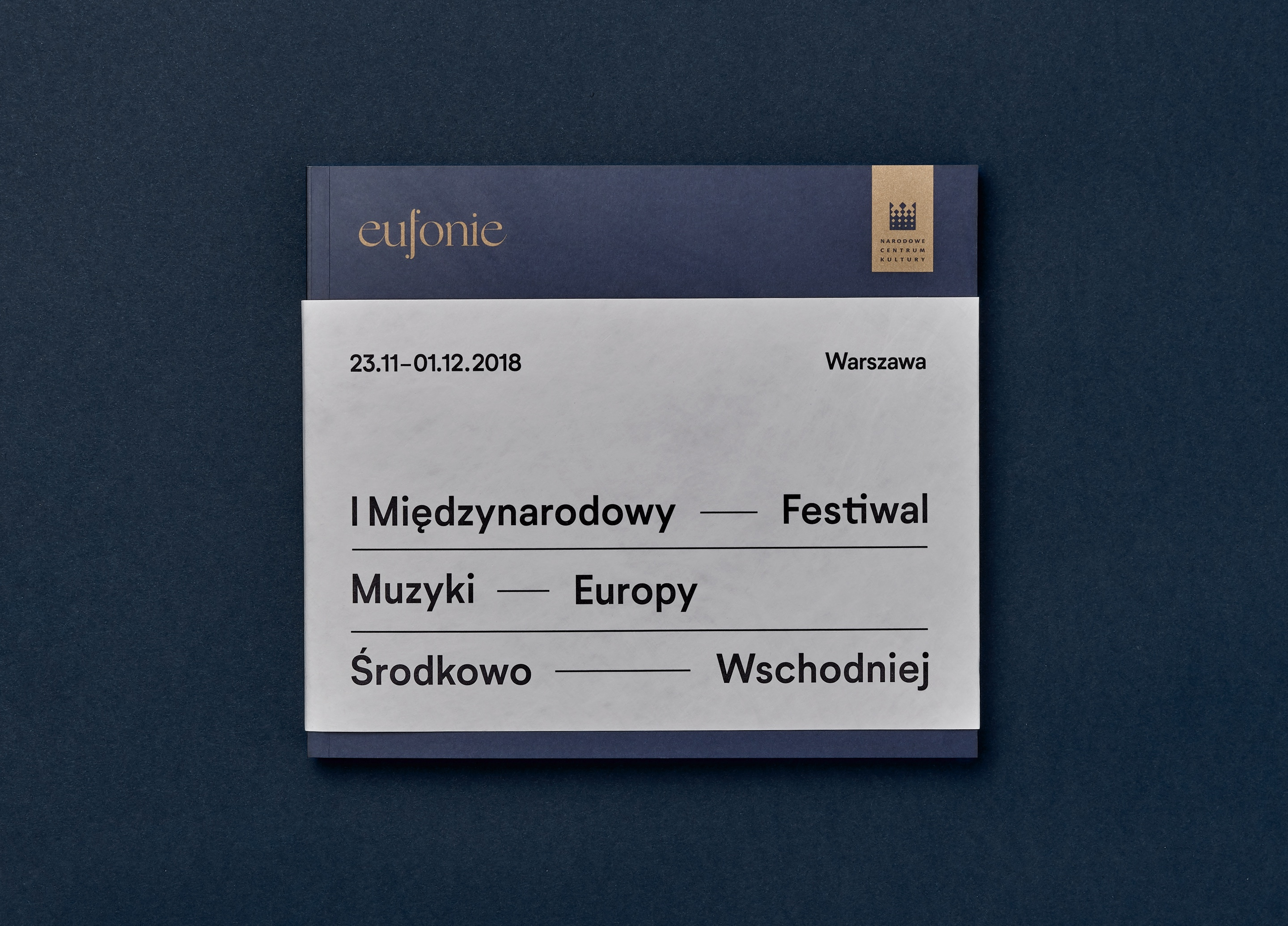 Booklet cover design - Eufonie Festival by Uniforma