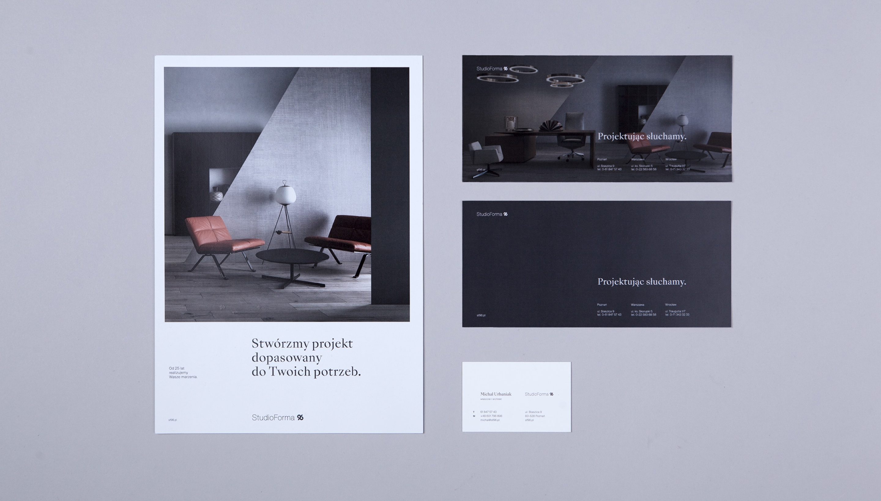Identity design - StudioForma 96 by Uniforma