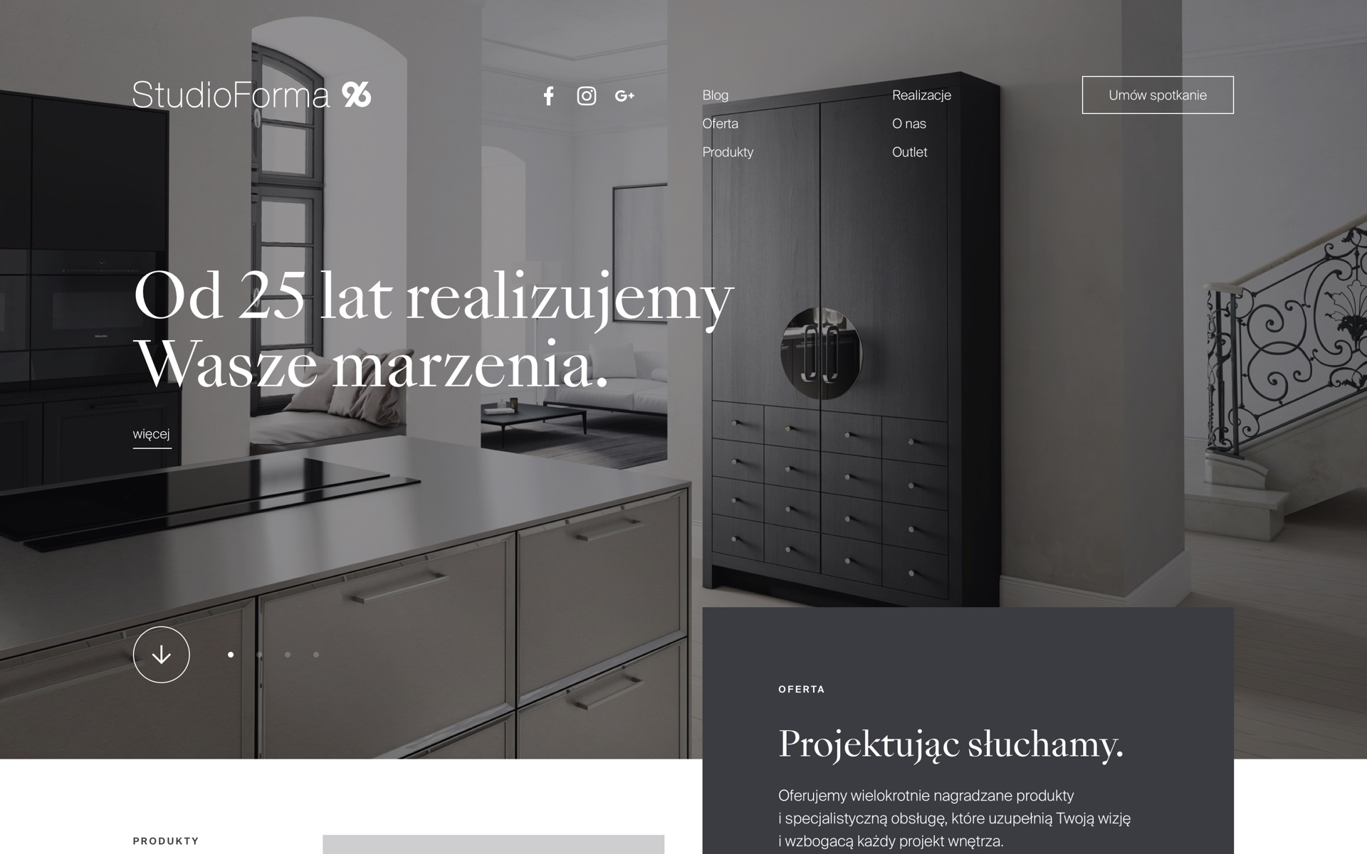Homepage - Website - StudioForma 96 by Uniforma