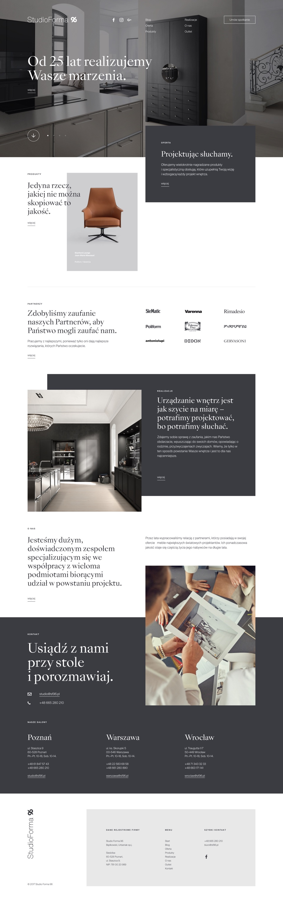 About us - webdesign -  StudioForma 96 by Uniforma