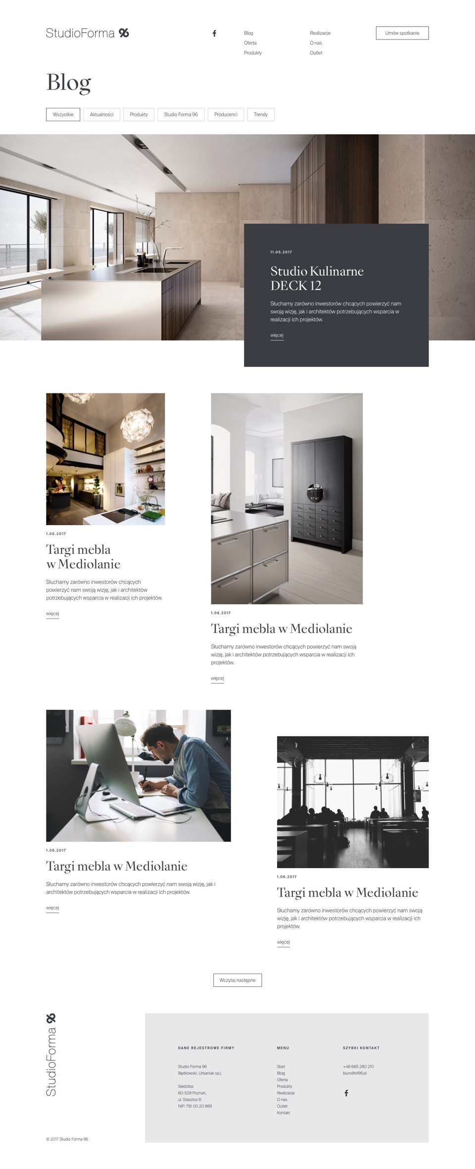 Blog - web design -  StudioForma 96 by Uniforma