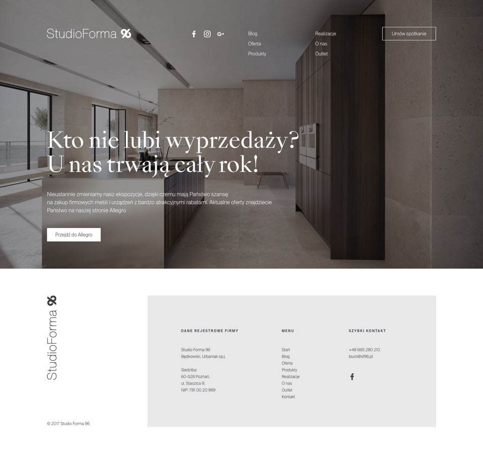 Web design - StudioForma 96 by Uniforma