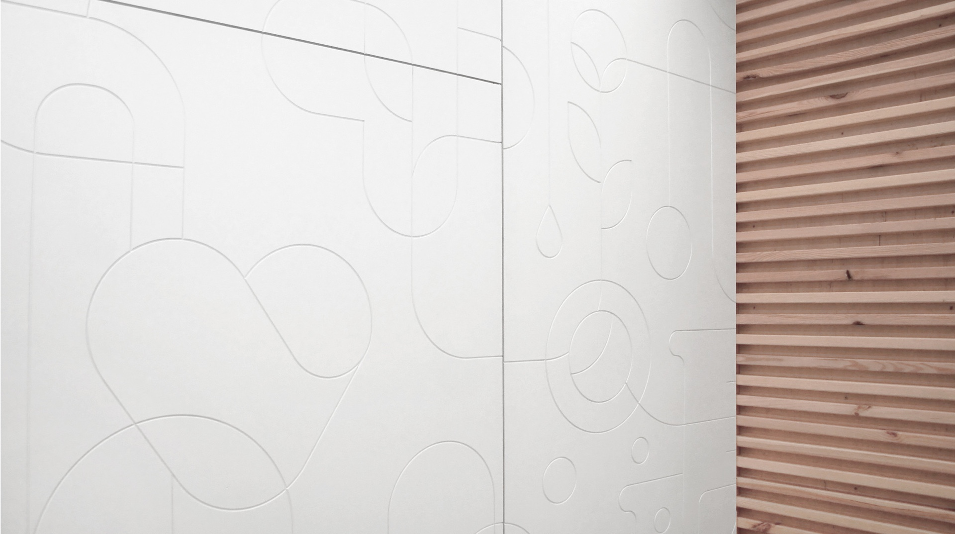 Wall pattern design - medic-r by Uniforma