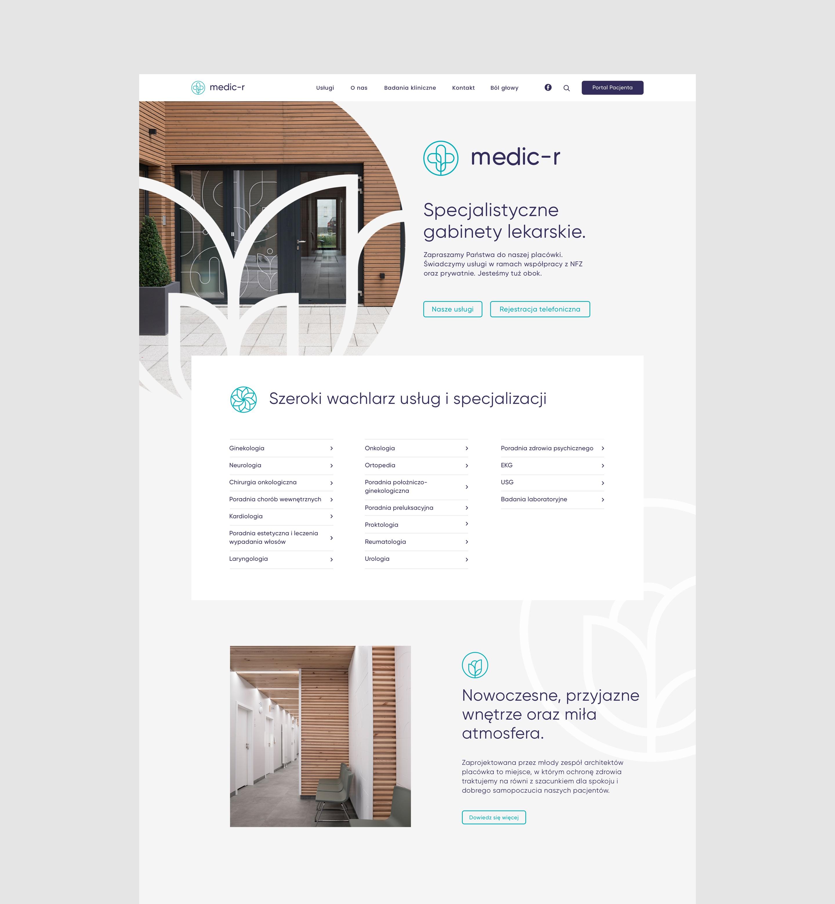 Homepage design - medic-r by Uniforma