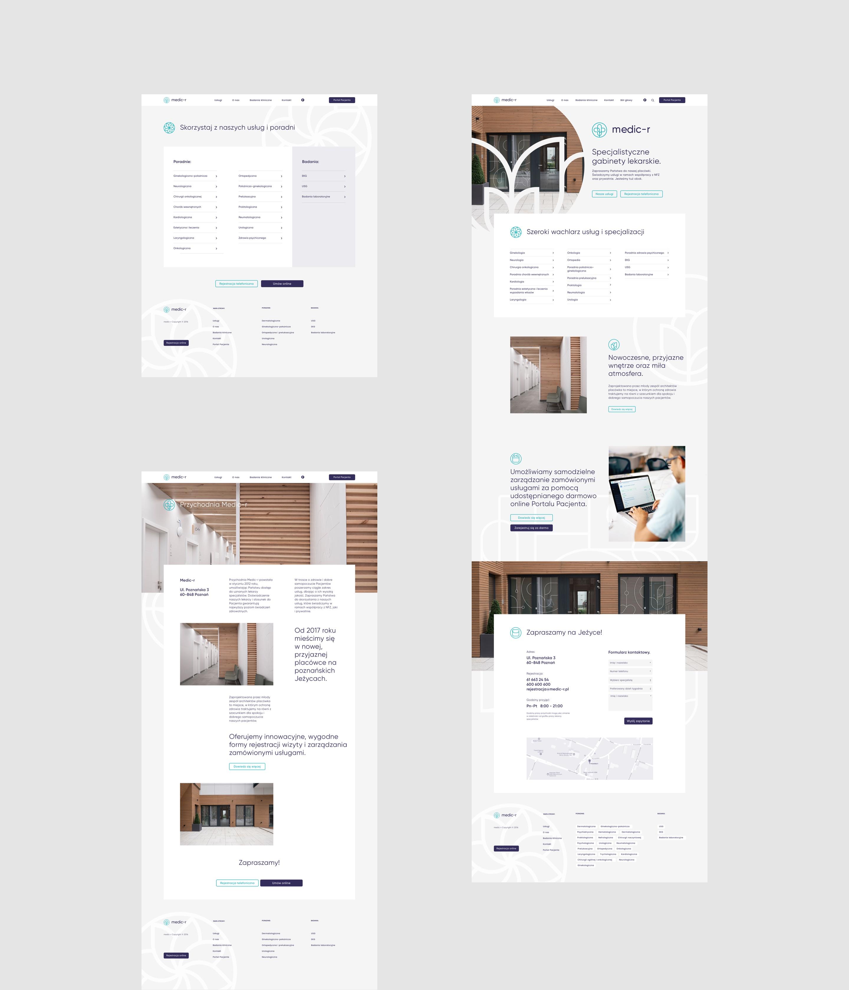 Webdesign - medic-r by Uniforma