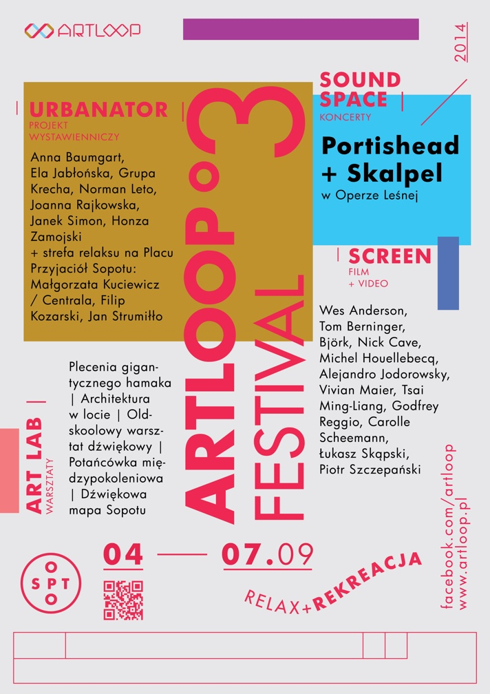 Poster design - Artloop Festival 2014 by Uniforma