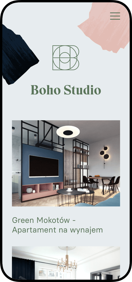 mobile design - Boho Studio by Uniforma