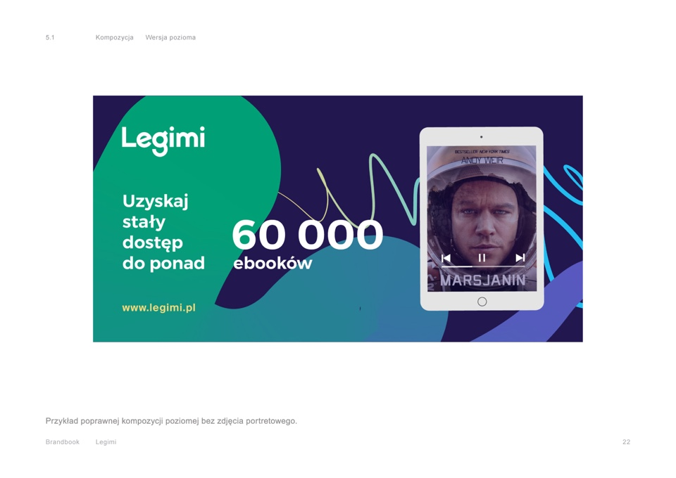 Composition - Brandbook - Legimi by Uniforma