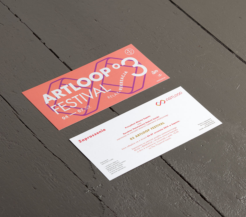 Invitation design - Artloop Festival 2014 by Uniforma Studio